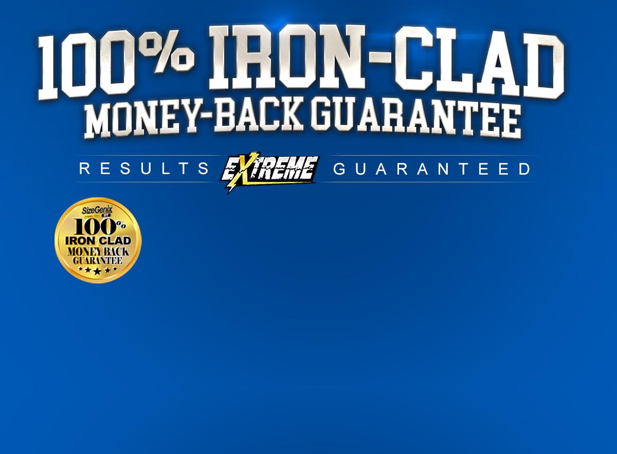 100% Iron Clad Money Back Guarantee
